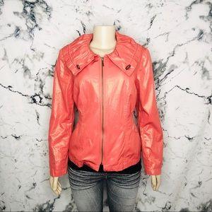 Tribal Metallic Jacket Pink/Orange Women Size 10